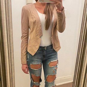 Ark & Co Tan Faux Leather Jacket/Blazer